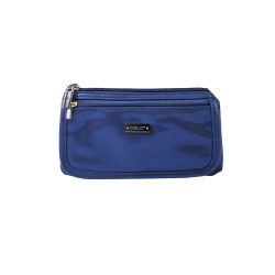 КОСМЕТИЧКА Cosmetic Bag Blue & Silver (R23676B)