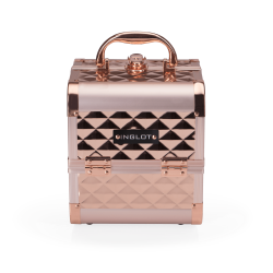 MAKEUP CASE DIAMOND MINI ROSE GOL